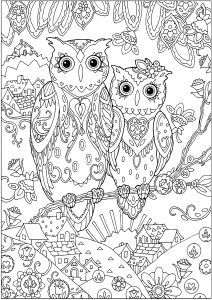 owl color pages # 15