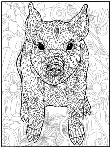 coloring pages of pigs # 10