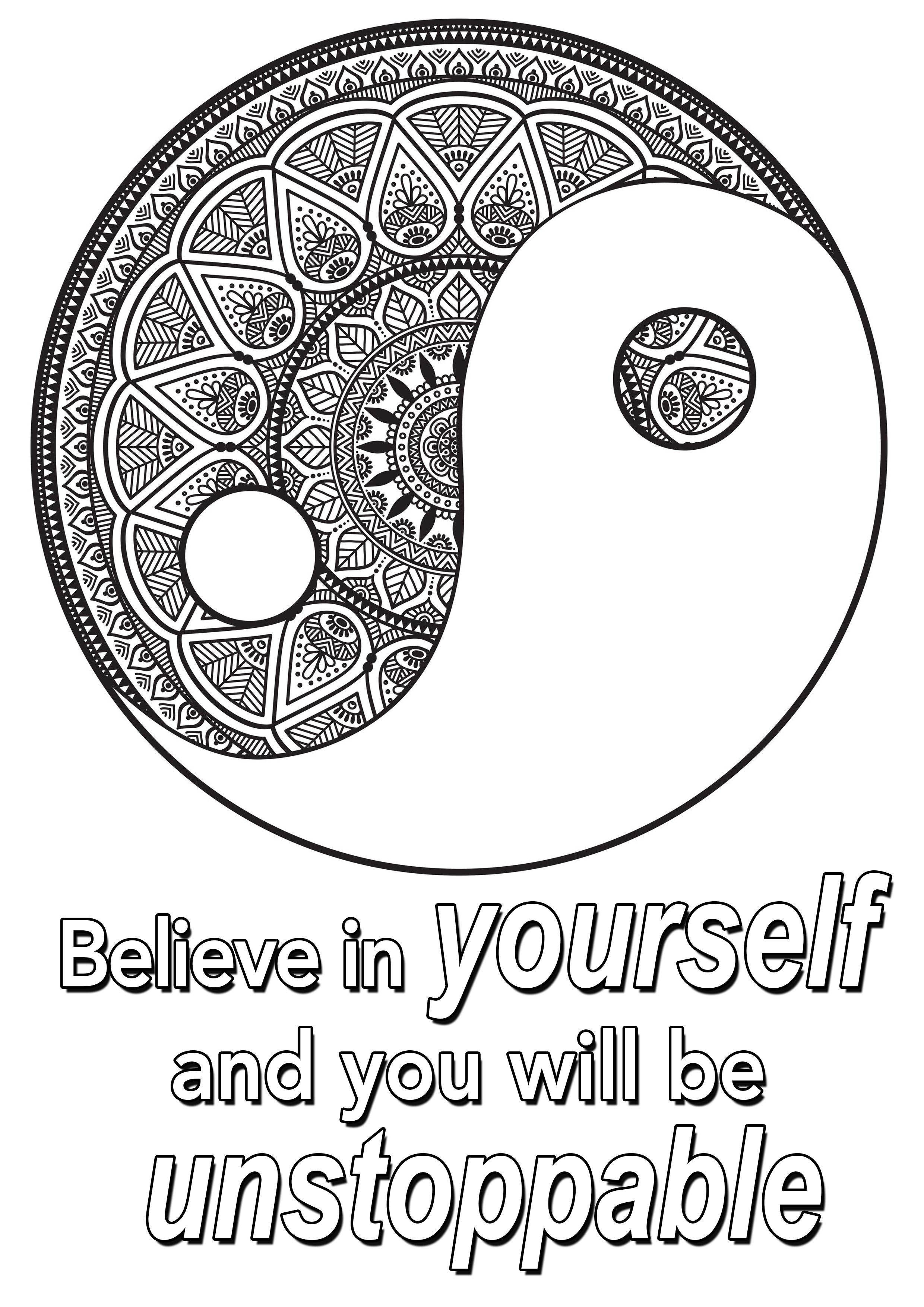 Quote Believe In Yourself Quotes Coloring Pages Coloring Pages