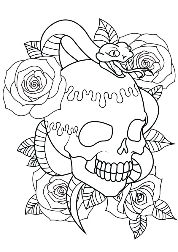 skulls coloring pages # 5