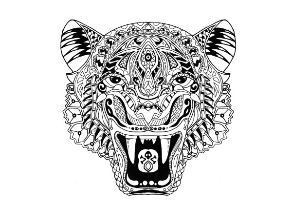 coloring pages of tigers # 8