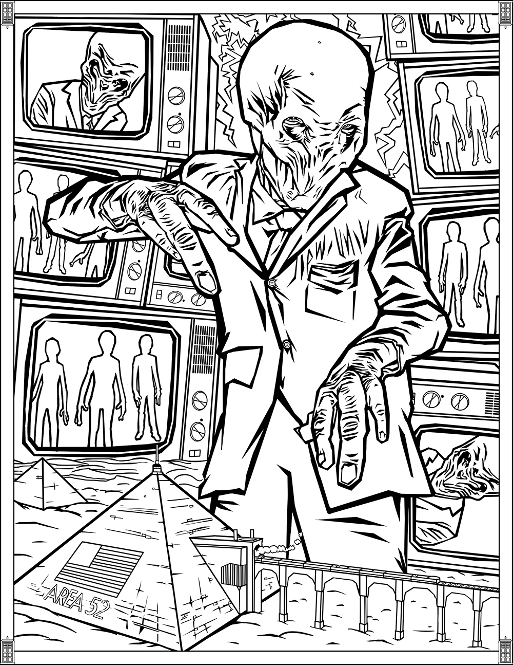 Doctor Who Pages Silence Tv Shows Coloring Pages For Adults