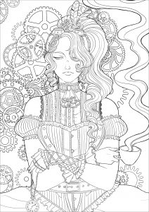 vintage coloring pages # 5