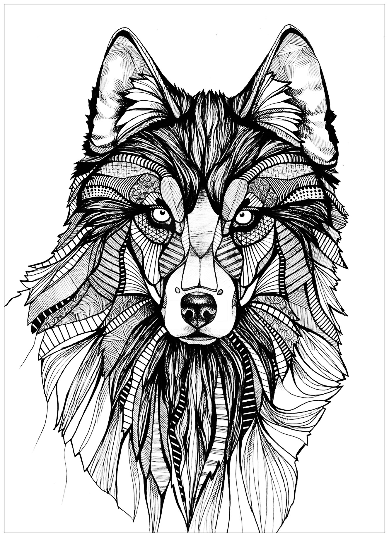 Wolves Coloring Pages For Adults Justcolor