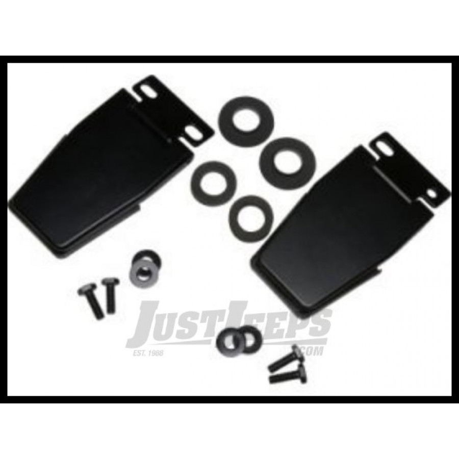 Kentrol hardtop liftgate hinges in stainless steel for 87 06 jeep wrangler yj tj unlimited black