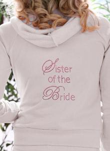 Sister Of The Bride Hoodie Sweatshirt Dazzling Rhinestones