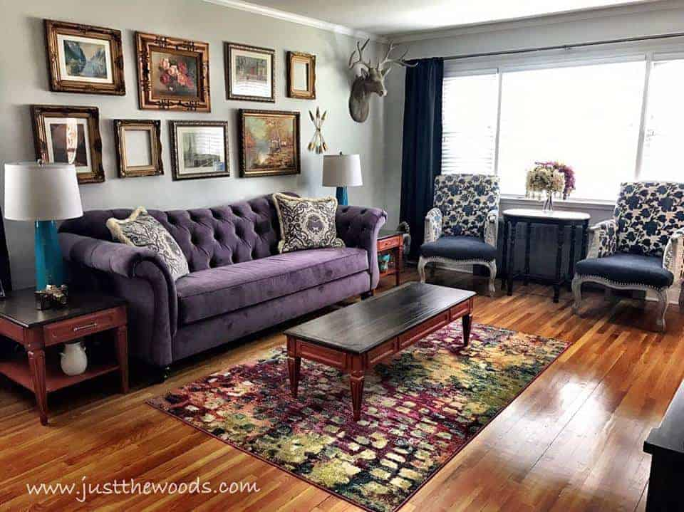 The 7 Best Home Decor Sites for Amazing Deals for a Beautiful Home home decor  uniqe decor  eclectic home decor  purple couch  colorful home