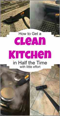 How to Get a Clean Kitchen in Half the Time   With Less Effort Get a Clean Kitchen in Half the Time   With Less Effort and no harsh  chemicals