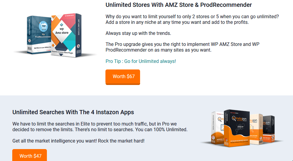Instazon Suite PRO Version Upgrade OTO