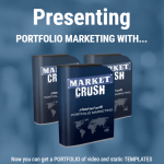 Market Crush Agency License Package & OTO Upsell by Shelley Penney Review – Best Portfolio Marketing Package included video templates in 5 sizes to match social marketing requirements AND paired them up with a branding package