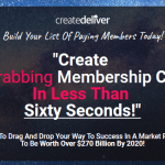 CreateDeliver Membership Platform & OTO Upsell by Steve Benn Review – Best Membership and Digital Product Delivery Platform to Create & Deliver Cash-Grabbing Digital Products, Courses, Video Training & Memberships with More Premium Features and Technology