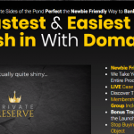Private Reserve WSO Methode by Trevor Carr Review – Best Domainer Methode Reveal The Fastest & Easiest Way to Cash in With Domains and the very latest training on fast cash strategies from buying and selling domains