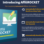 AffiliRocket Pro Plugin Software & OTO Upsell by Kurt Chrisler Review – Best Automated Affiliate Site Builder to Create Complete Monetized Affiliate Site by Automatically Adds Posts of Affiliate Products, Article, Video and Images For All Your Keywods To Your Site with Affiliate Link and SEO Friendly Content