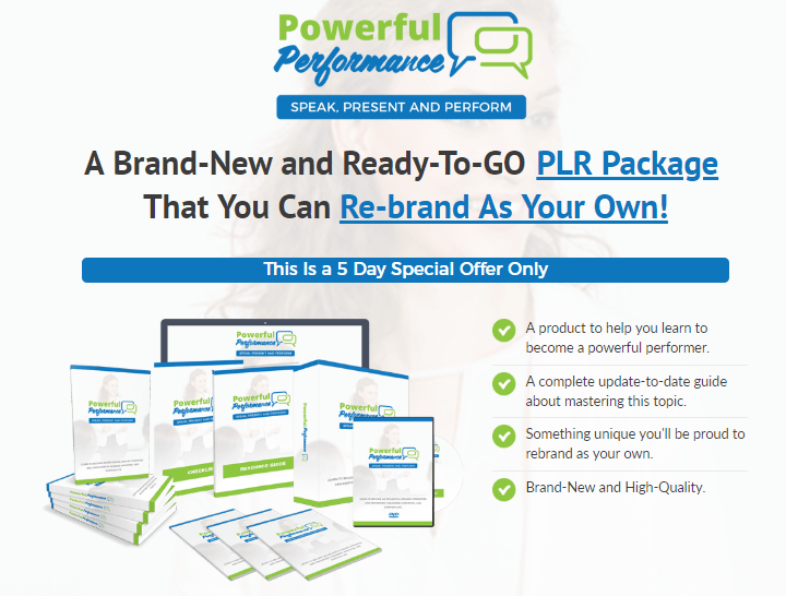 Powerful Performance PLR Package by PLR Lobby