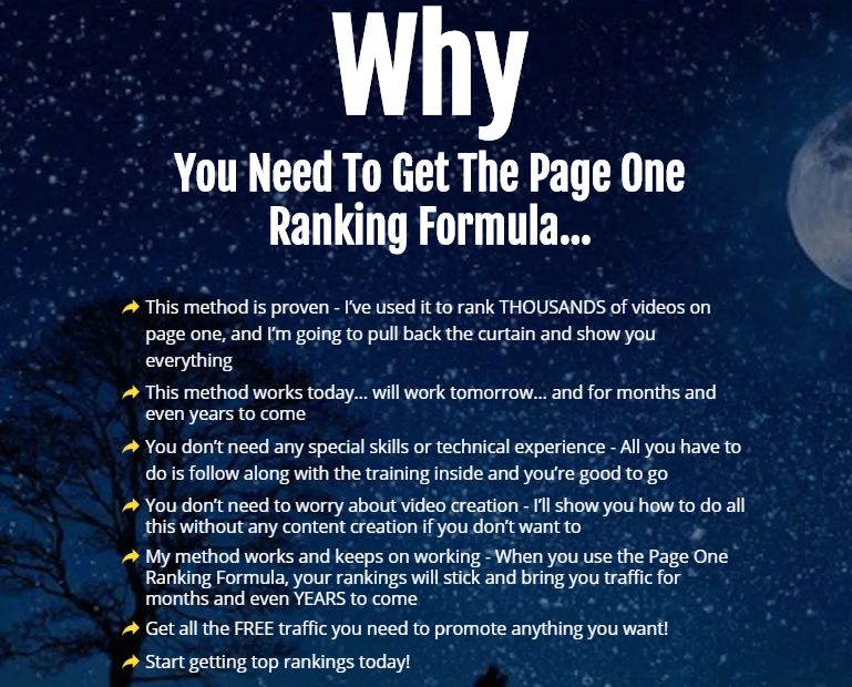 Page One Ranking Formula WSO by Vick Carty