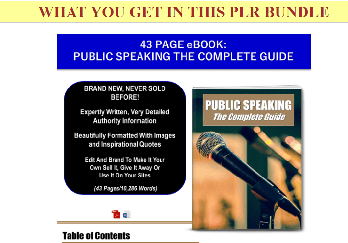 Excellence In Public Speaking And Communication PLR Pack by JR Lang
