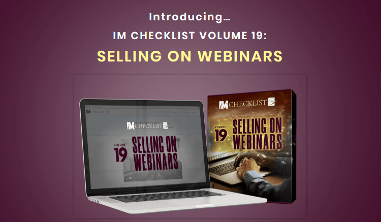 IM Checklist Selling On Webinars PLR by Kevin Fahey