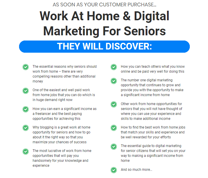 Work At Home & Digital Marketing For Seniors PLR