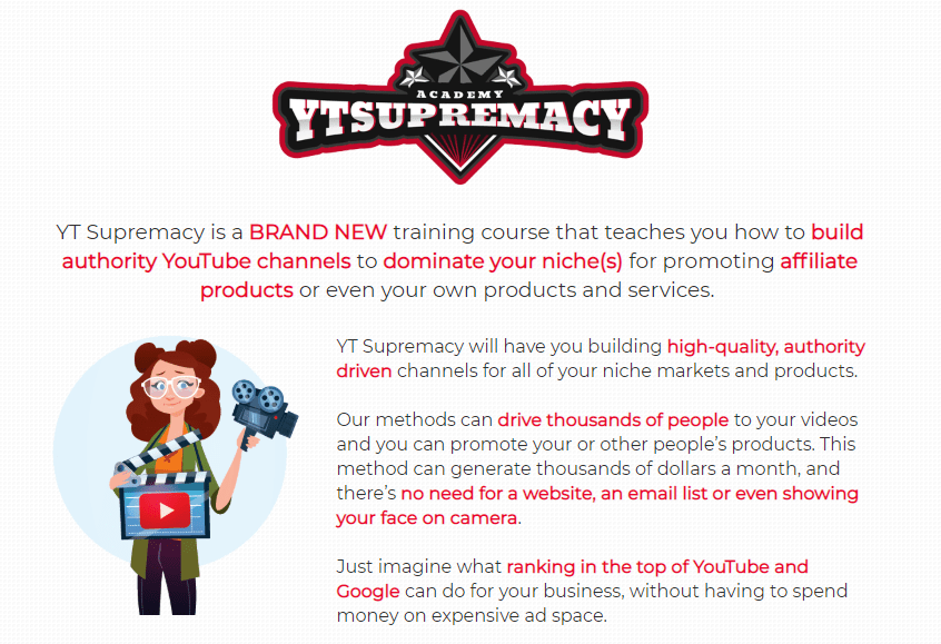 Youtube YT Supremacy Training OTO Upsell WSO