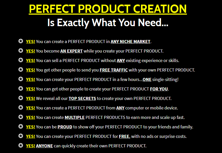 Perfect Product Creation Training OTO Upsell