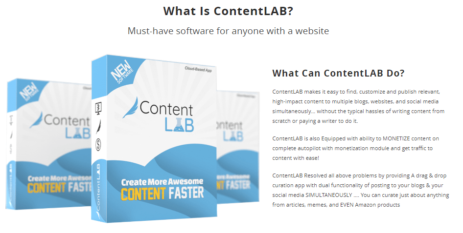 ContentLAB Software OTO Upsell by Igor Burban