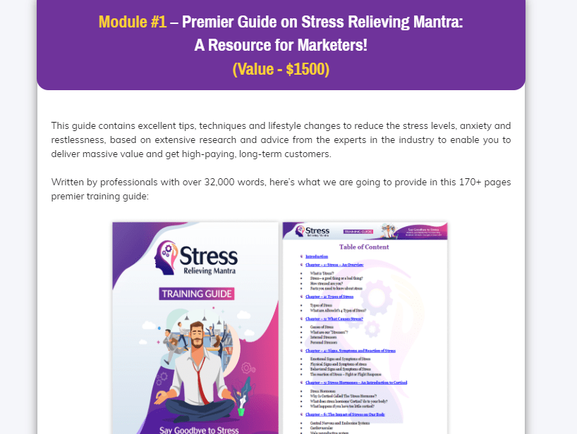 Stress Relieving Mantra PLR OTO Upsell Review by FireLaunchers