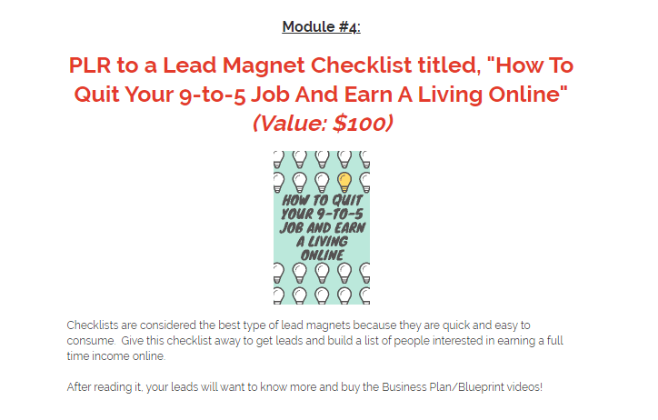 Business Plan PLR For Building A Full Time Online Business & OTO