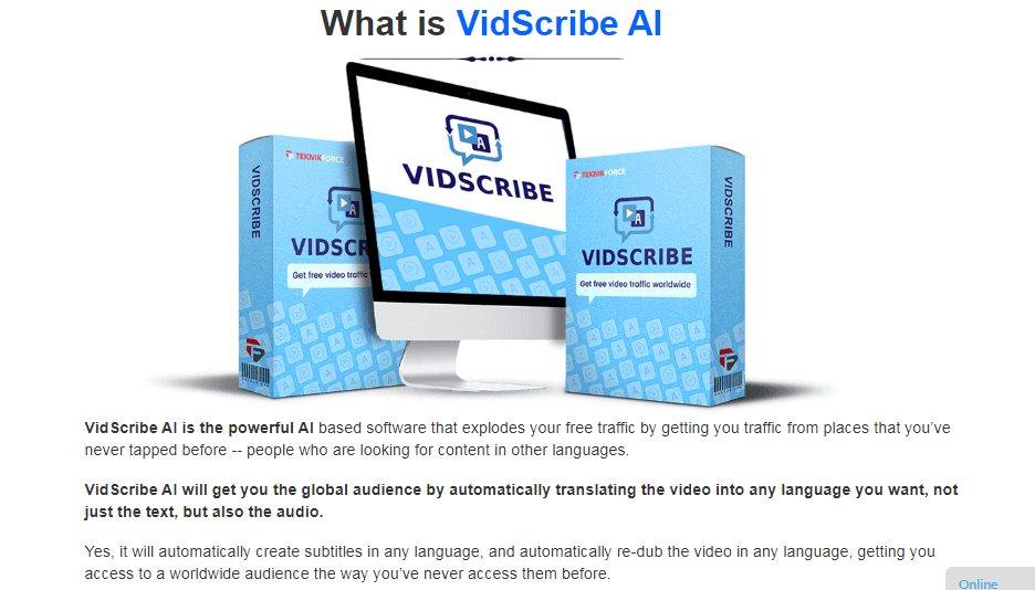 Vidscribe AI Software & OTO Upsell by Cyrill Gupta