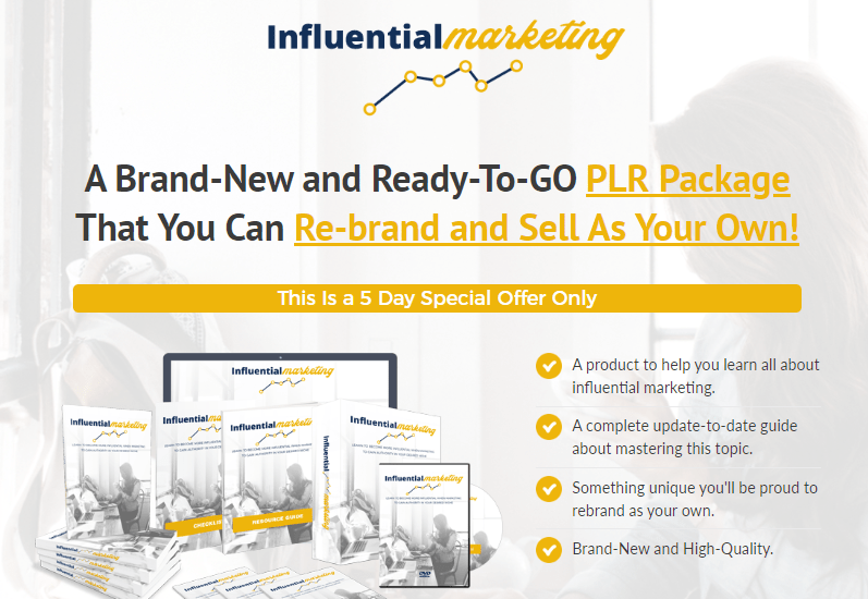 Influential Marketing PLR & OTO Review by PLR Lobby