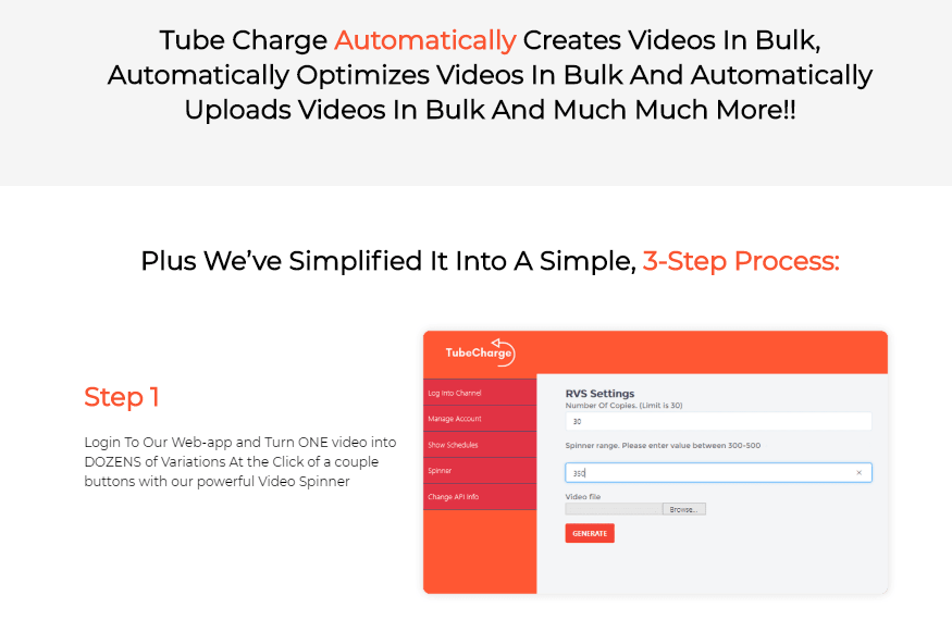 TUBECHARGE Agency + OTO Upsell by Joshua Zamora