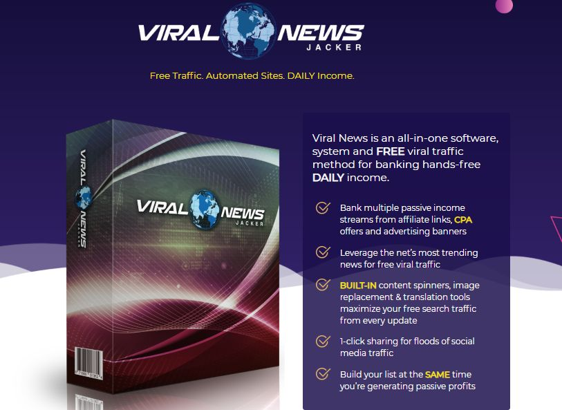 Viral News Jacker OTO & Upsell by Glynn Kosky