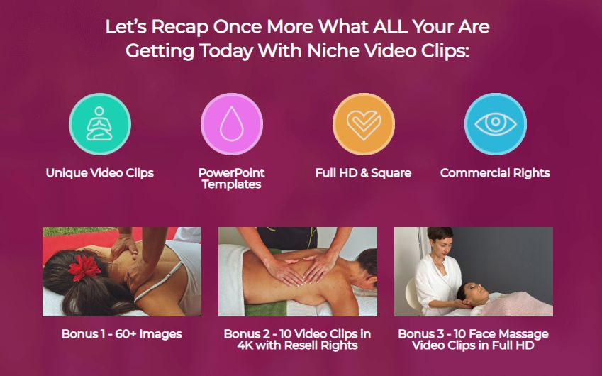 Niche Video Clips PLR Volume Massage & OTO