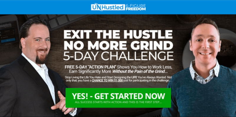 UnHustled 6-Figure Freedom & OTO by Sean Donahoe