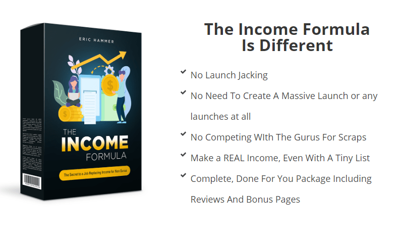 The Income Formula & OTO Upsell by Eric Hammer