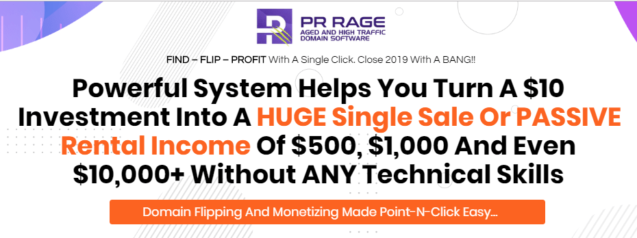 PR Rage Domain Hunting Software & OTO by Walt Bayliss