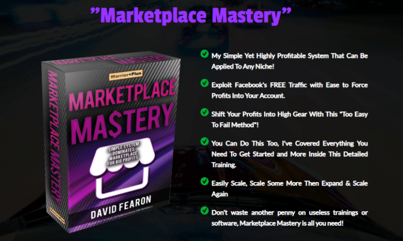 Marketplace Mastery & OTO by David Fearon