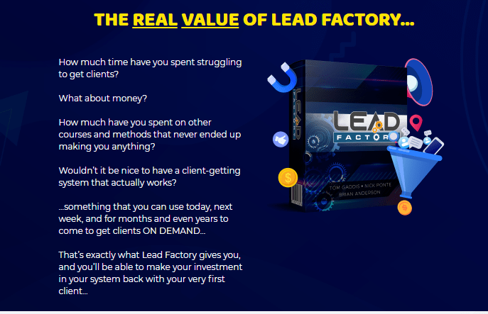 Lead Factory System & OTO by Tom Gaddis