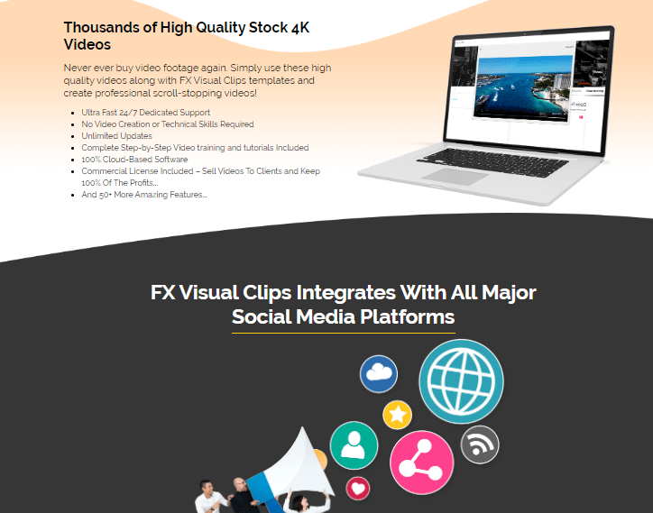 FXVisualClips Software & OTO Upsell by Misan Morrison