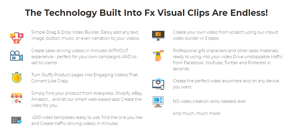 FXVisualClips PRO Commercial & OTO by Misan Morrison