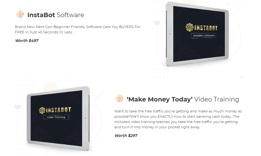 InstaBot Software & OTO Upsell by Billy Darr