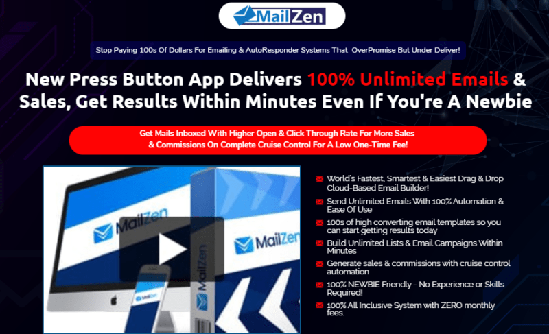 MailZen PRO Software & OTO by OJ James