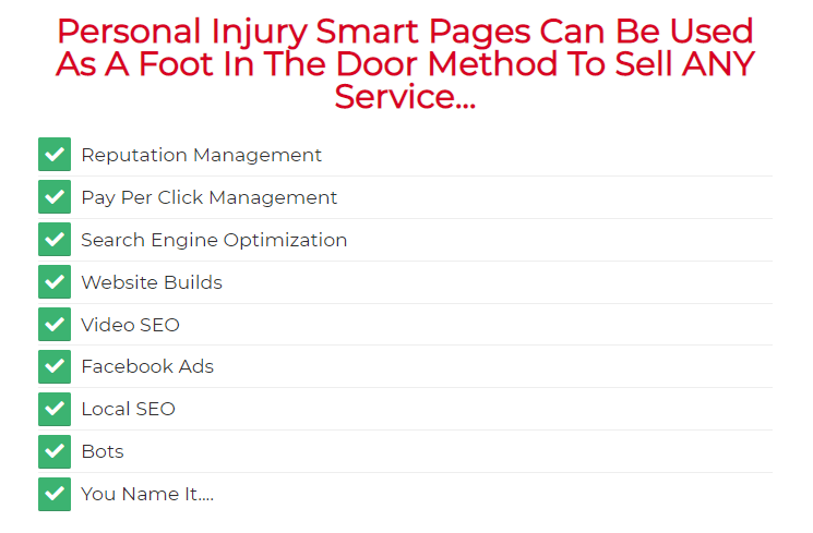 Personal Injury Smart Pages & OTO by InvisiblePPC