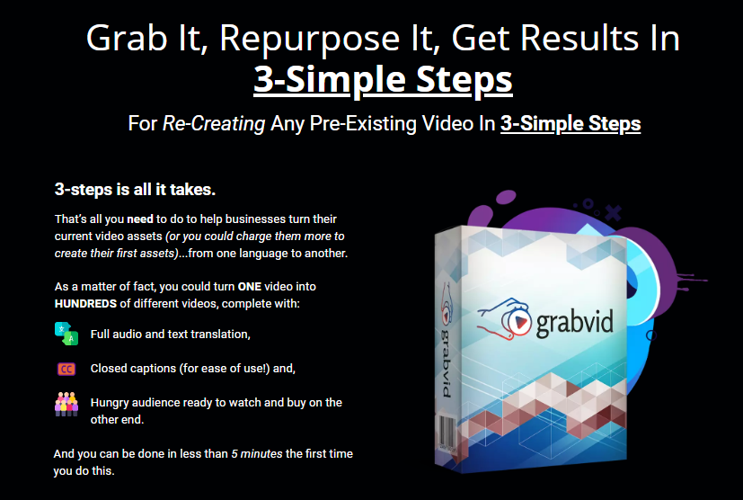 GrabVid PRO Software & OTO by Neil Napier