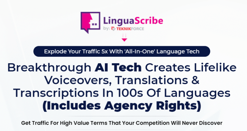 LinguaScribe App Software & OTO by Ben Murray