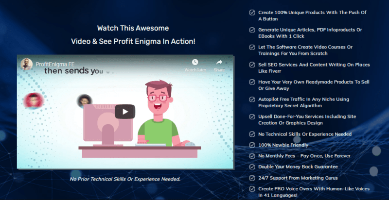 Profit Enigma PRO Software & OTO by Mike Mckay