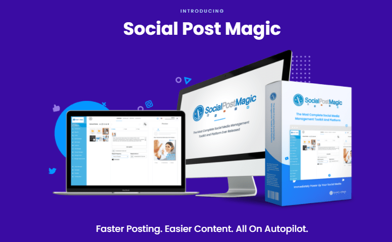 Social Post Magic PRO & OTO by Walt Bayliss