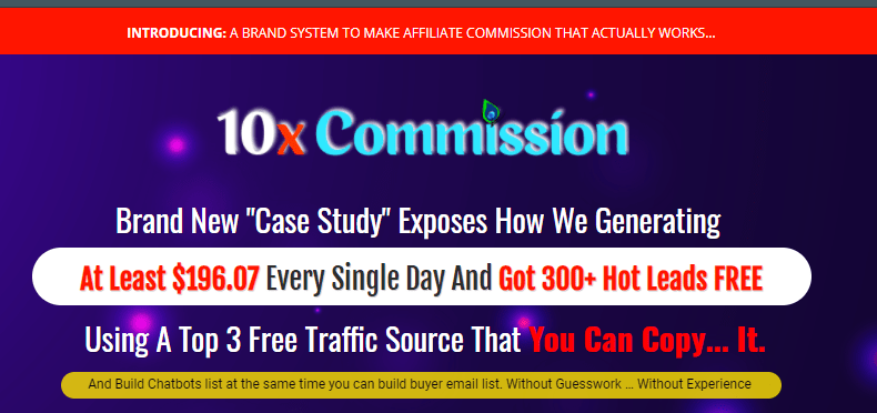 10x Commission System Review + OTO