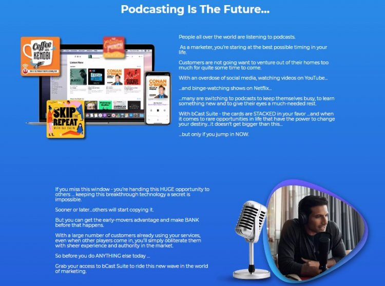 bCast Suite Podcast Software FE, OTO, and Upsell Review & Download Here