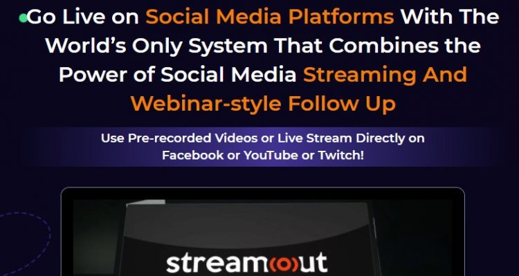StreamOut Review & OTO UPSELL by Mario Brown