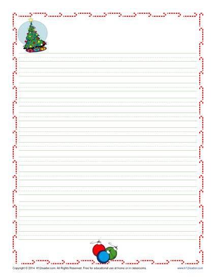 1st Grade Letter Writing Paper